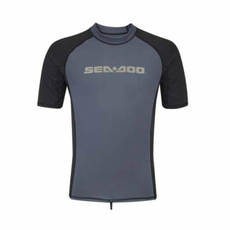 Sea-Doo Men's Signature Short Sleeve Rashguard - Black
